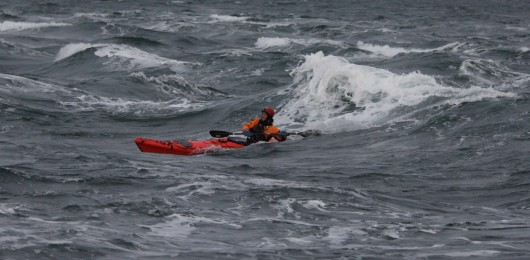 Sea kayaking the Tide race