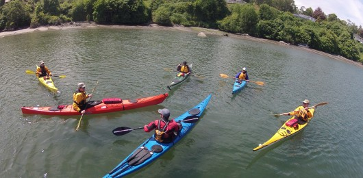 Sea kayak instruction for beginners in Victoria BC with Active Sea Kayaking